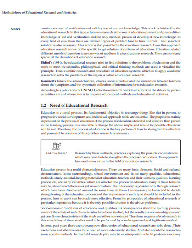 methodology of educational research and statistics