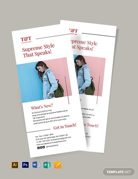 minimalist rack card template download