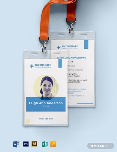 nurse id card template