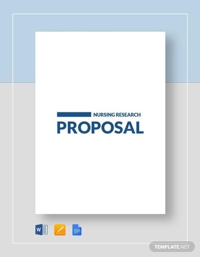nursing research proposal templates