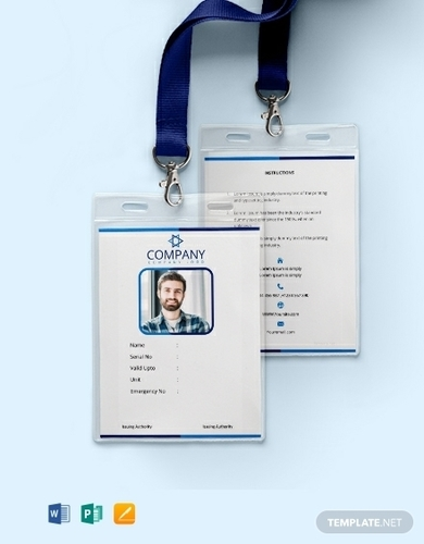 office blank id card