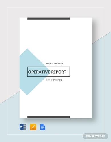 operative report
