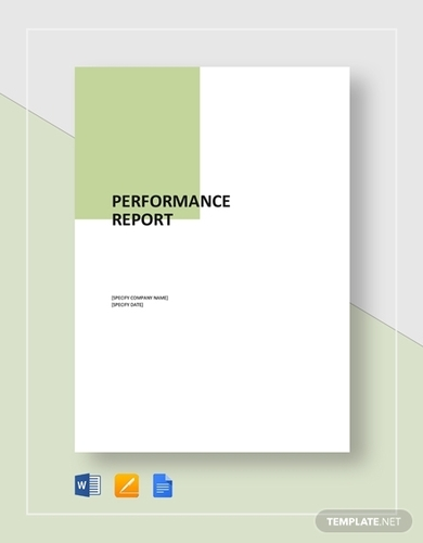 performance report