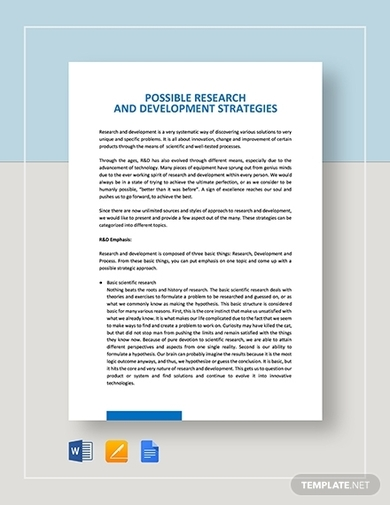 possible nursing research and development strategies template