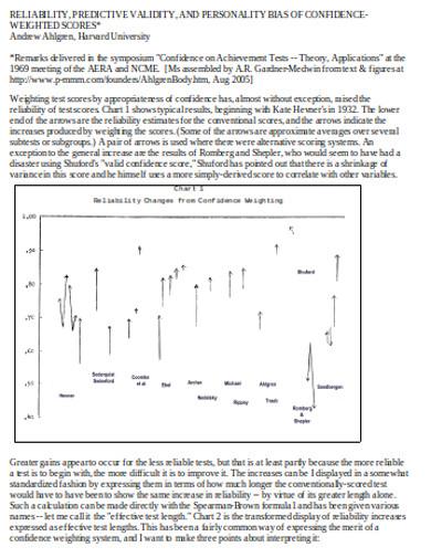predictive validity in doc