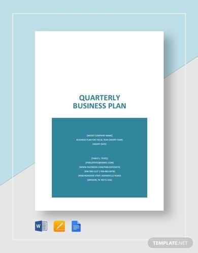 quarterly business plan
