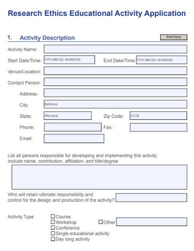 research ethics educational activity application