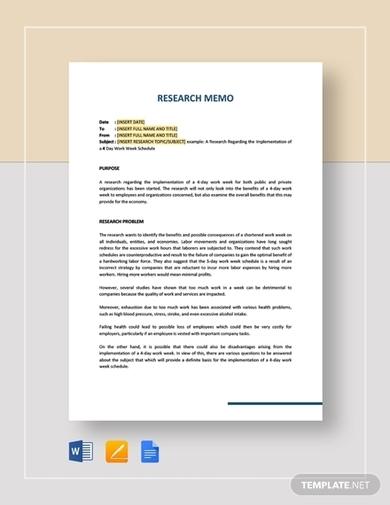 research memo template