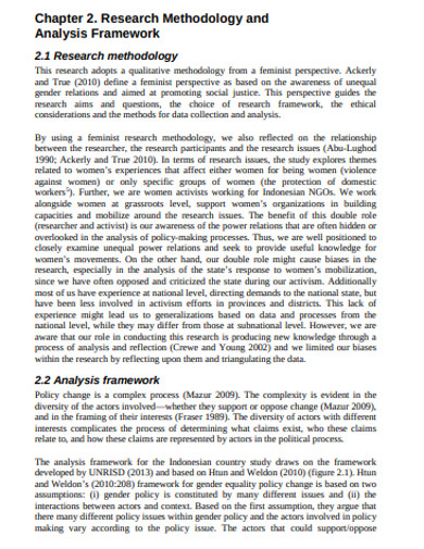 research methodology and analysis framework