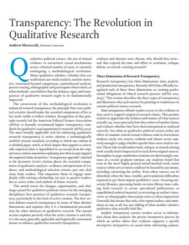 revolution in qualitative research