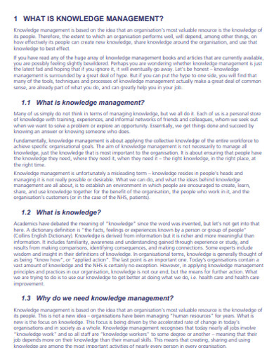 standard knowledge management examples