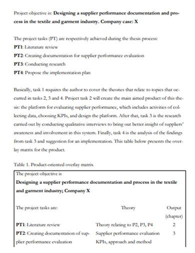 supplier performance evaluation documentation