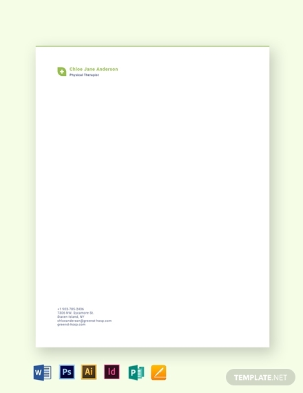 therapist letterhead