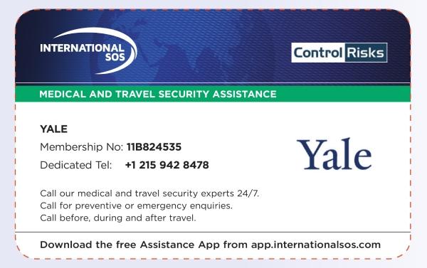 travel emergency id card example