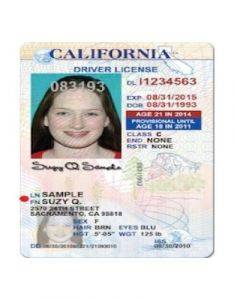 vertical drivers license