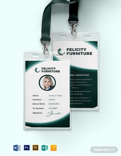 warehouse id card template