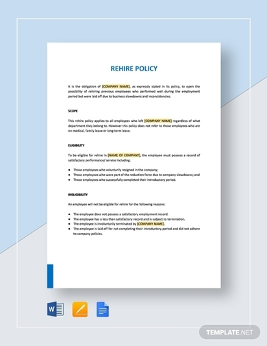 10 Policy Documentation Examples Templates Ms Word Apple
