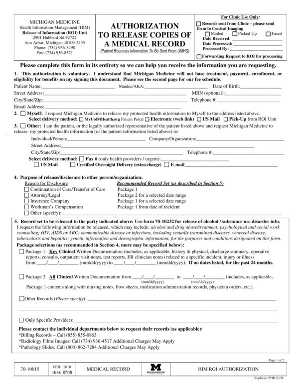 medical release form 4