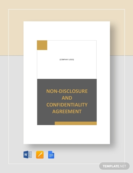 non disclosure and confidentiality agreement