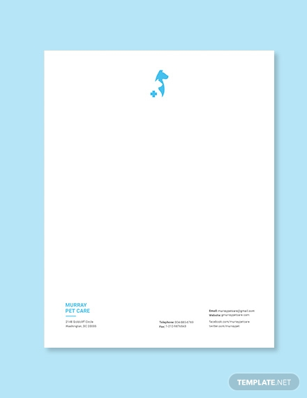 veterinary hospital letterhead