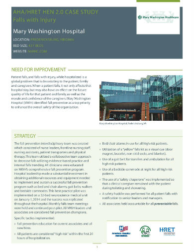falls mary washington hospital case study page 001
