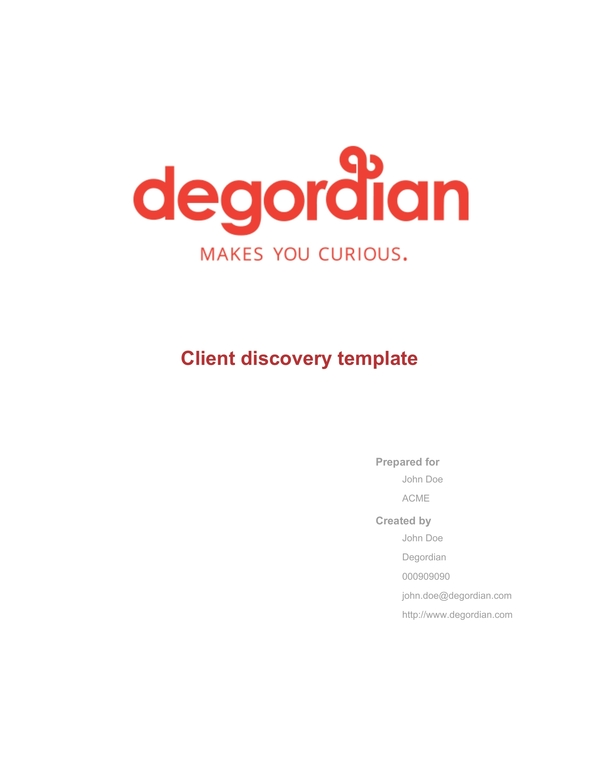 client discovery 3
