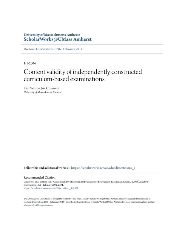 content validity 6