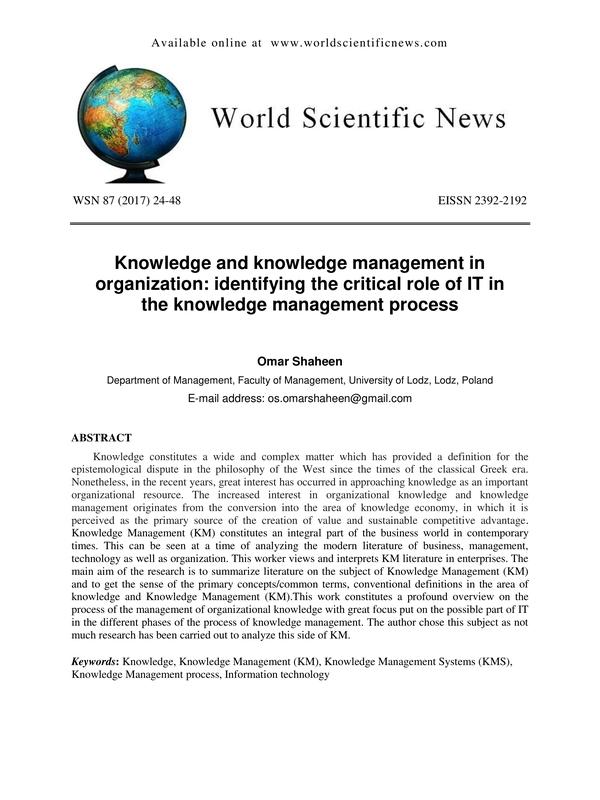 organizational knowledge 8