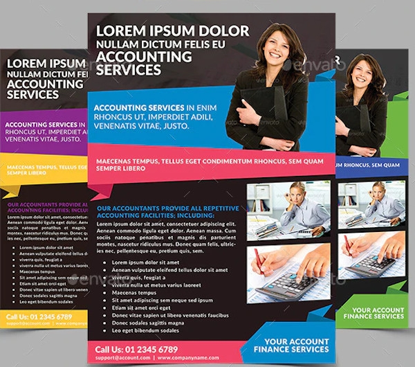 accounting finance services flyer