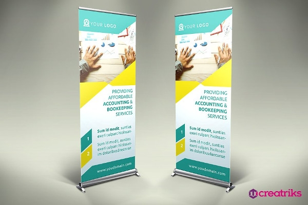 accounting roll up banner example