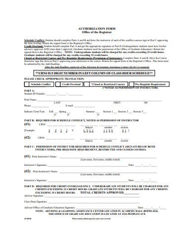 authorization form example