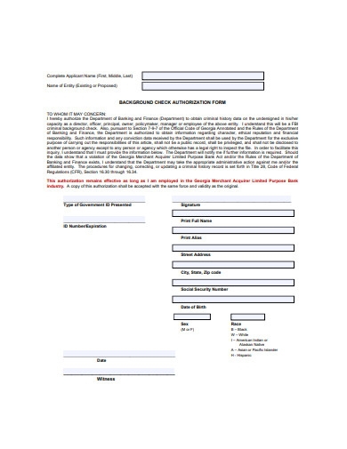 background check authorization form in pdf