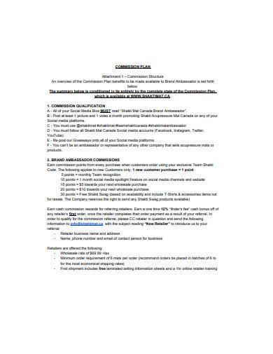 basic commission plan format