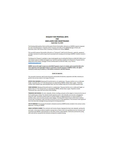 basic lawn care proposal
