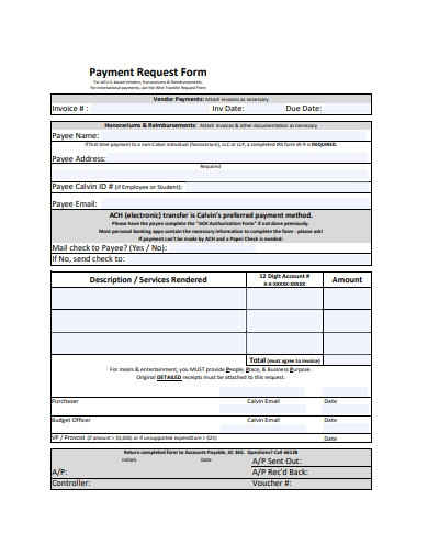 basic payment request form