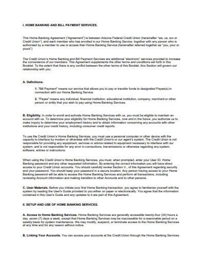 bill payment service agreement sample
