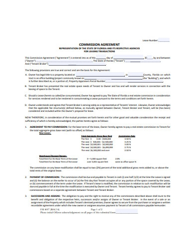 commission agreement format