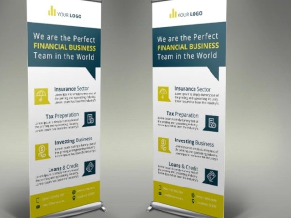 creative financial roll up banner