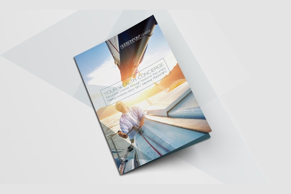 creative financial service brochure indesign
