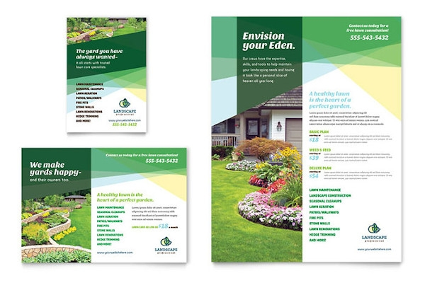 designed lawn care flyer example