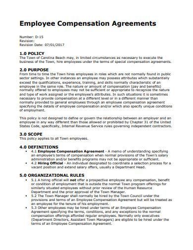 employee compensation agreement