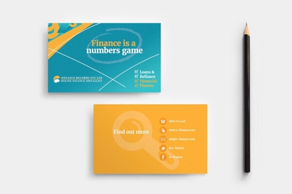 exclusive financial business card