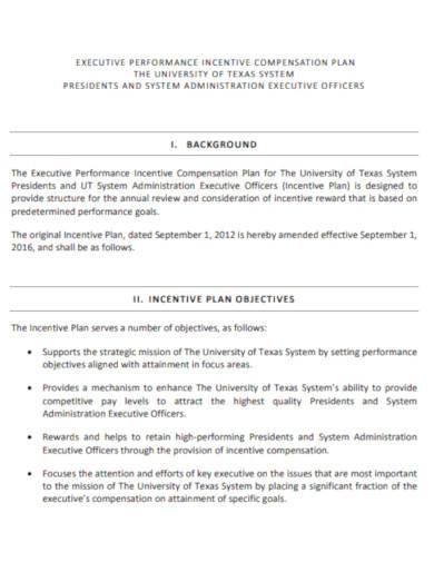 excutive performance incentive compensation plan