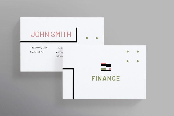 finance and accounting business card
