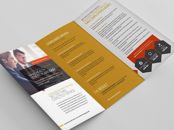 financial advisor brochure in vector eps