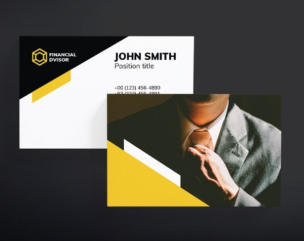 financial advisor business card example