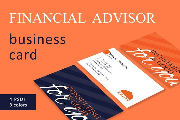 financial advisor business card