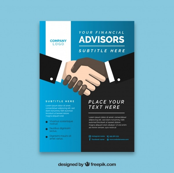 financial advisor flyer example