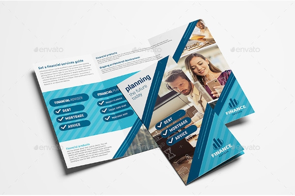 financial advisor trifold brochure