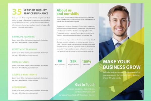 financial brochure example